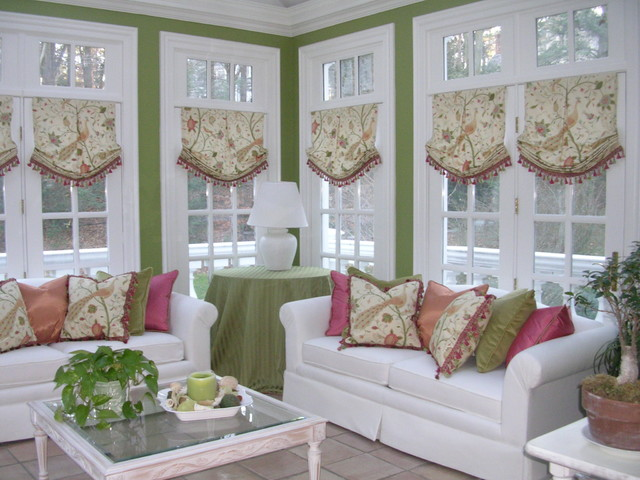 Creative window treatments that will totally reinvent your for Sunroom windows ideas